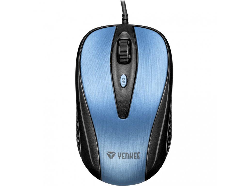 YMS 1025BE Myš USB Quito modrá YENKEE