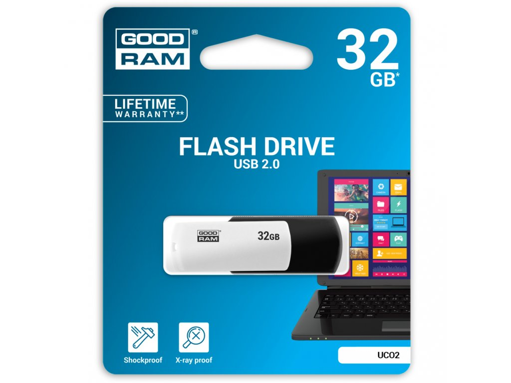 USB FD 32GB UCO black & white GOODRAM