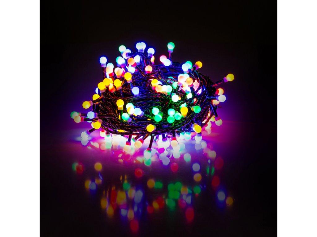 LED vánoční cherry řetěz – kuličky, 10m, vnitřní, multicolor ZYK0209