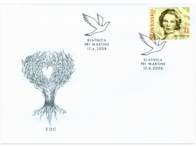 SR 2008 / 419 / Osobnosti - Maša Haľamová / FDC
