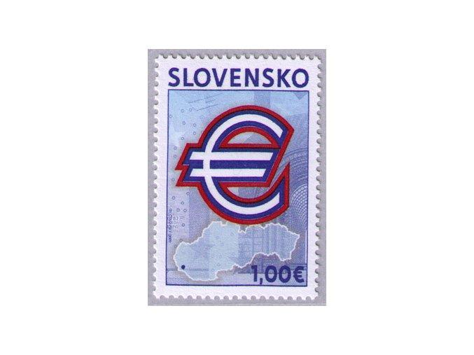 SR 437 Pamätná prvá eurová známka
