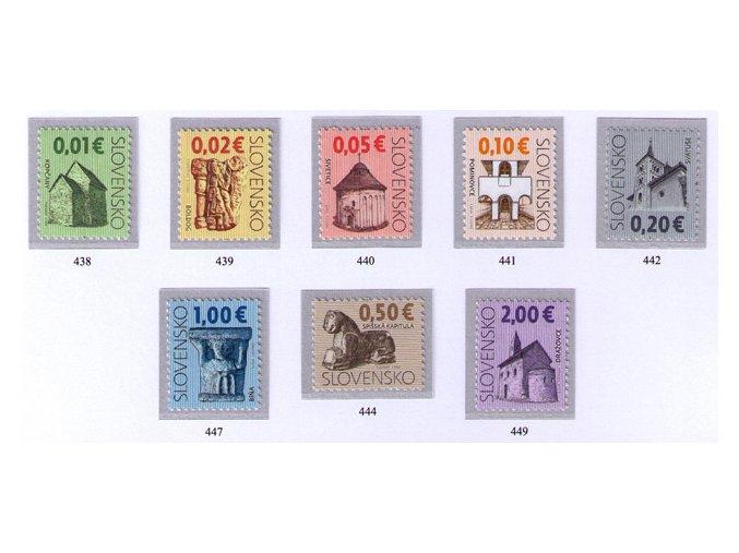 SR 2009 / 438-442, 444, 447, 449 / Kultúrne dedičstvo Slovenska