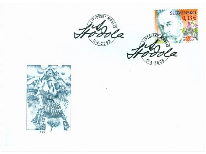 SR 2009 / 452 / Osobnosti - Aurel Stodola / FDC