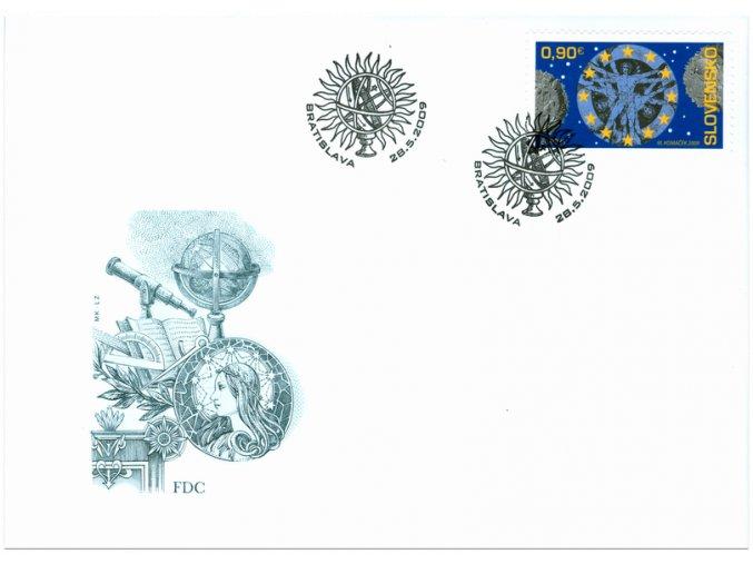SR 2009 / 455 / EUROPA - Astronómia / FDC