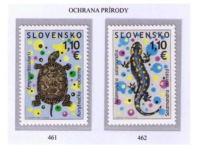 SR 2009 / 461-462 / Ochrana prírody