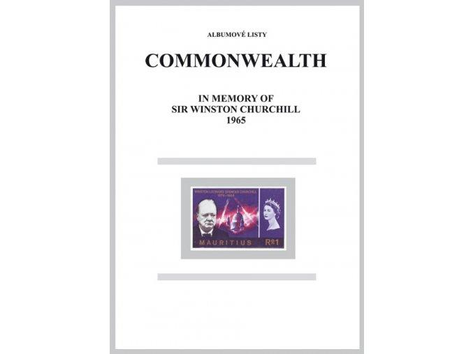 Albumové listy angl kol 1965 Churchill