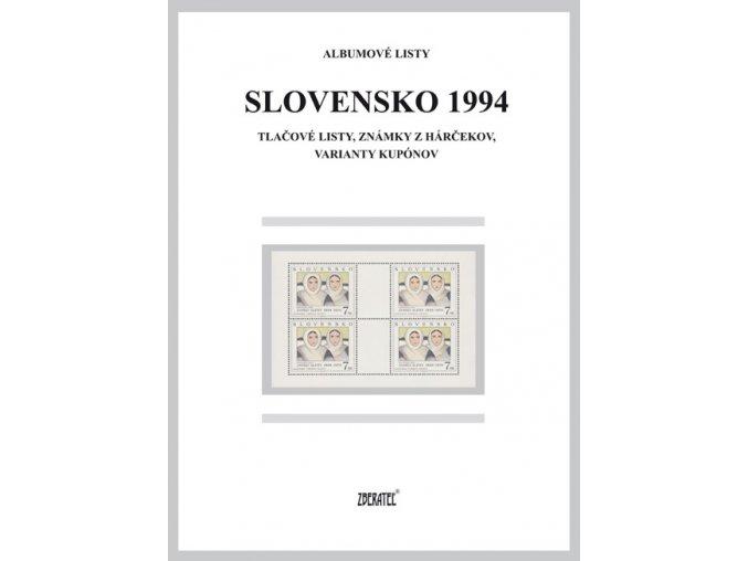 Albumové listy SR 1994 II