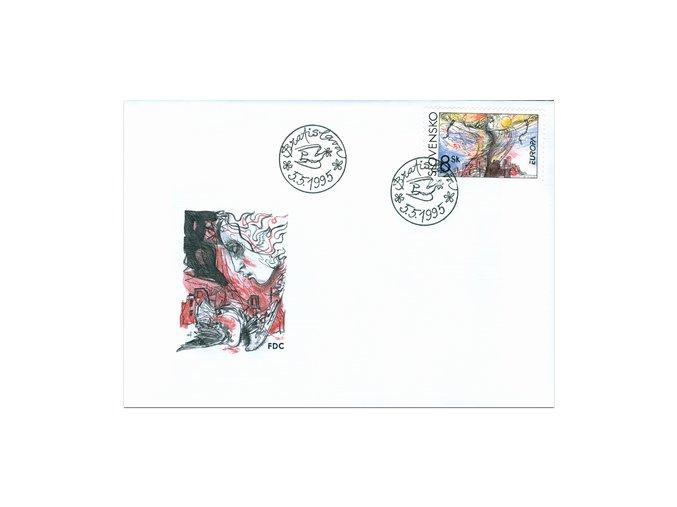 SR 1995 / 065 / EUROPA - Mier a sloboda FDC