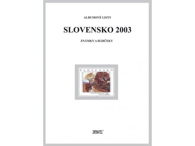 Albumové listy SR 2003 I