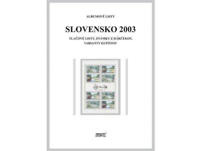 Albumové listy SR 2003 II