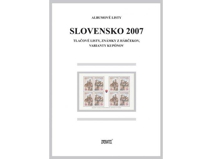 Albumové listy SR 2007 II
