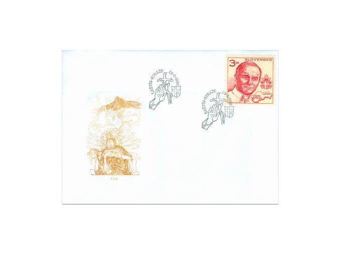 SR 1995 / 068 / Návšteva pápeža Jána Pavla II. FDC