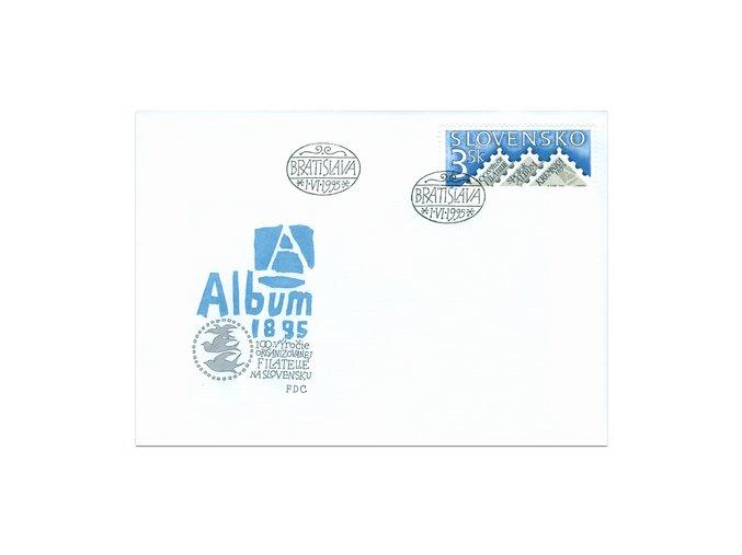 SR 1995 / 069 H / 100. výročie organizovanej filatelie na Slovensku FDC