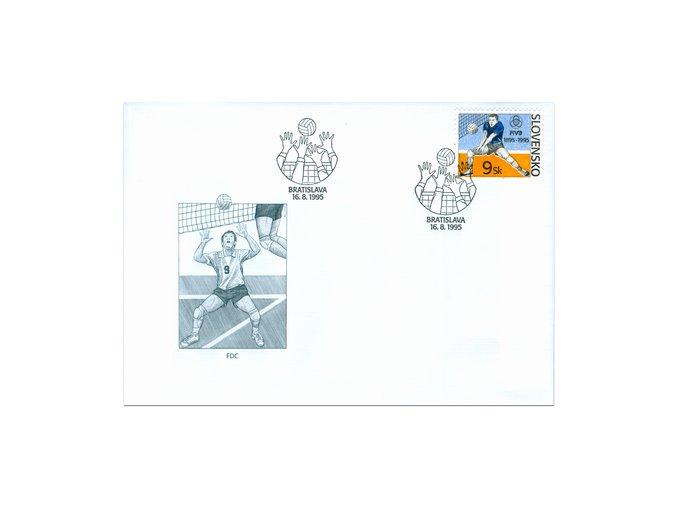 SR 1995 / 074 / 100 rokov volejbalu FDC