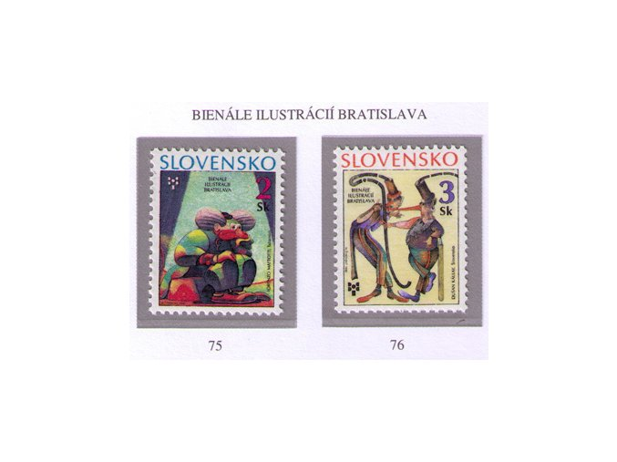 SR 1995 / 075-076 / Bienále ilustrácií Bratislava