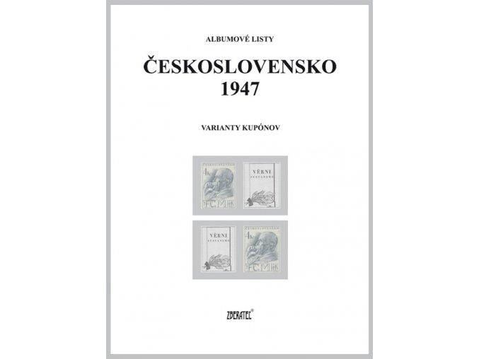 Albumové listy Československo 1947 II