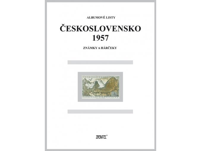 Albumové listy Československo 1957 I