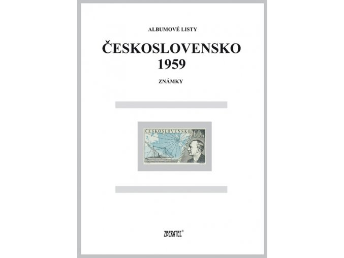 Albumové listy Československo 1959