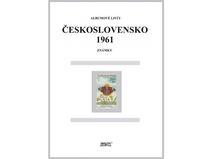 Albumové listy Československo 1961 I