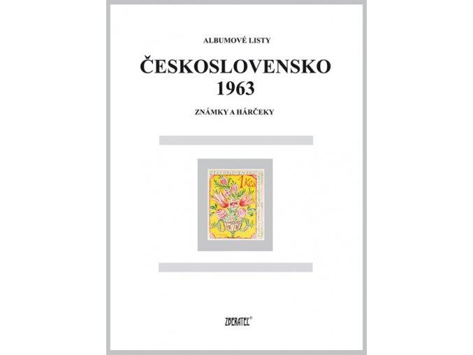 Albumové listy Československo 1963