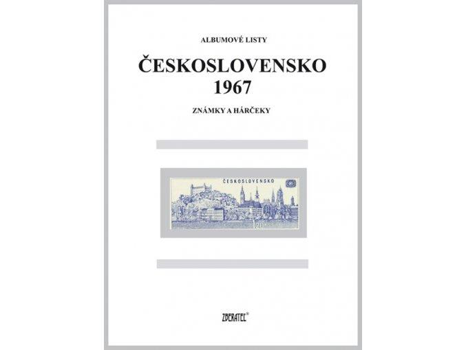 Albumové listy Československo 1967 I