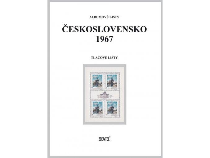 Albumové listy Československo 1967 II