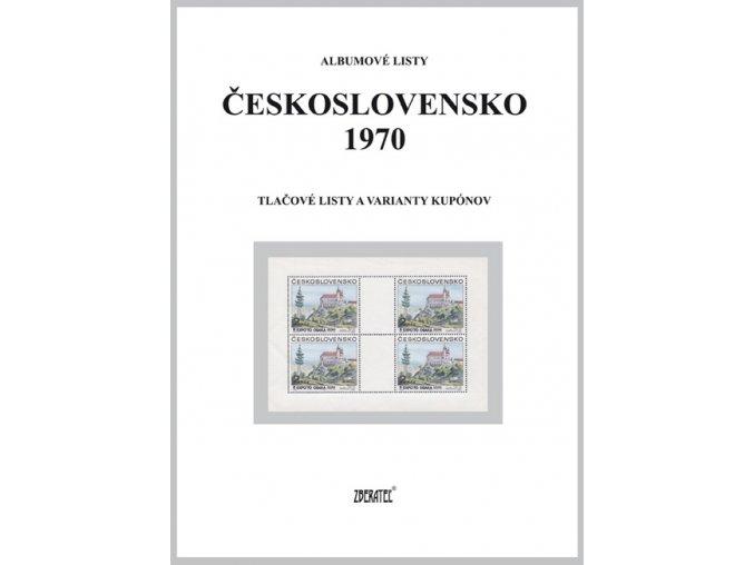 Albumové listy Československo 1970 II