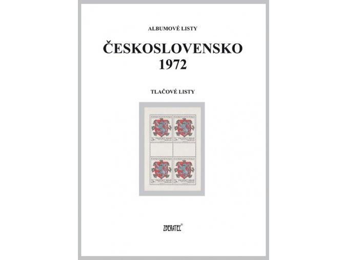 Albumové listy Československo 1972 II