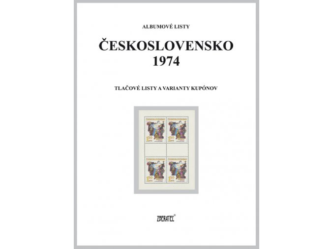 Albumové listy Československo 1974 II