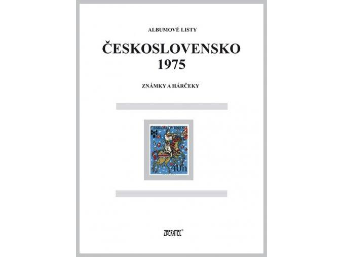 Albumové listy Československo 1975 I