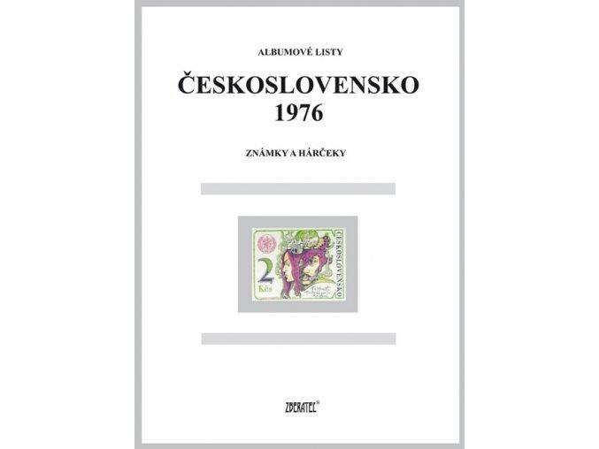 Albumové listy Československo 1976 I