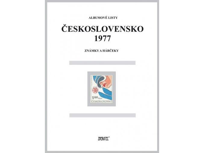 Albumové listy Československo 1977 I