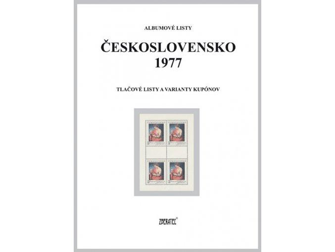 Albumové listy Československo 1977 II