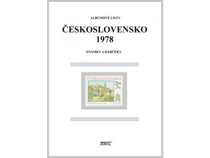 Albumové listy Československo 1978 I