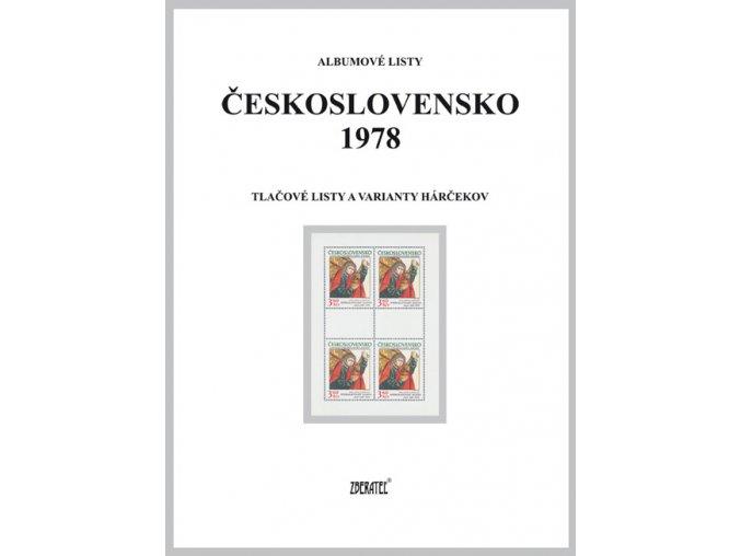 Albumové listy Československo 1978 II