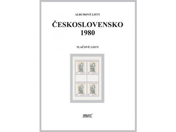 Albumové listy Československo 1980 II