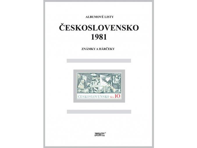 Albumové listy Československo 1981 I