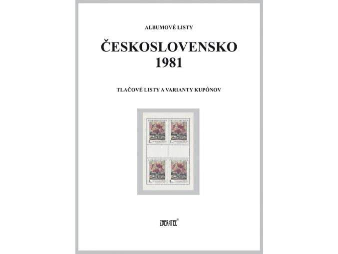 Albumové listy Československo 1981 II