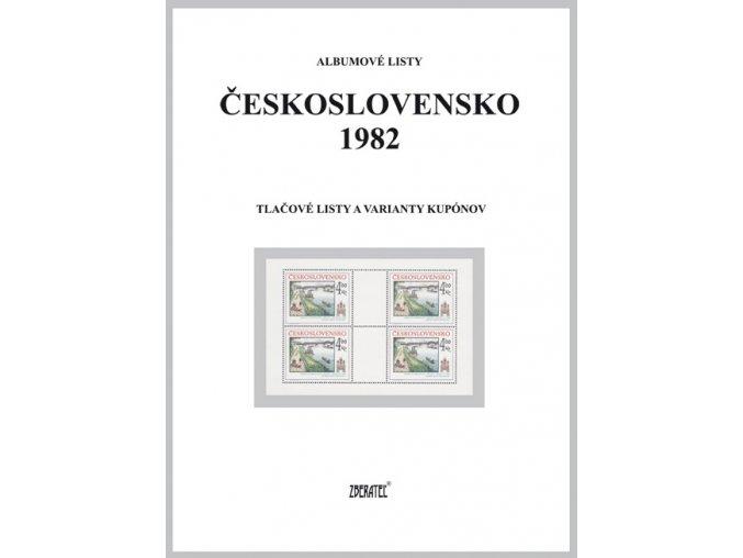 Albumové listy Československo 1982 II