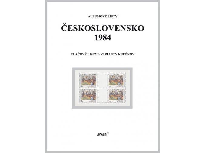 Albumové listy Československo 1984 II