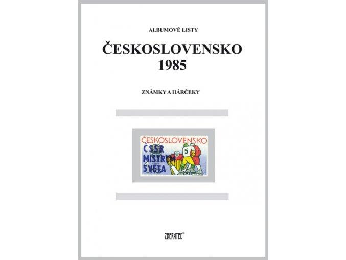 Albumové listy Československo 1985 I