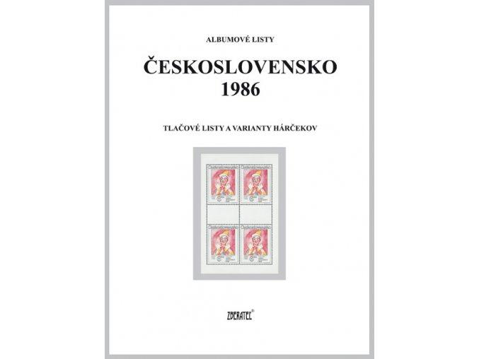 Albumové listy Československo 1986 II