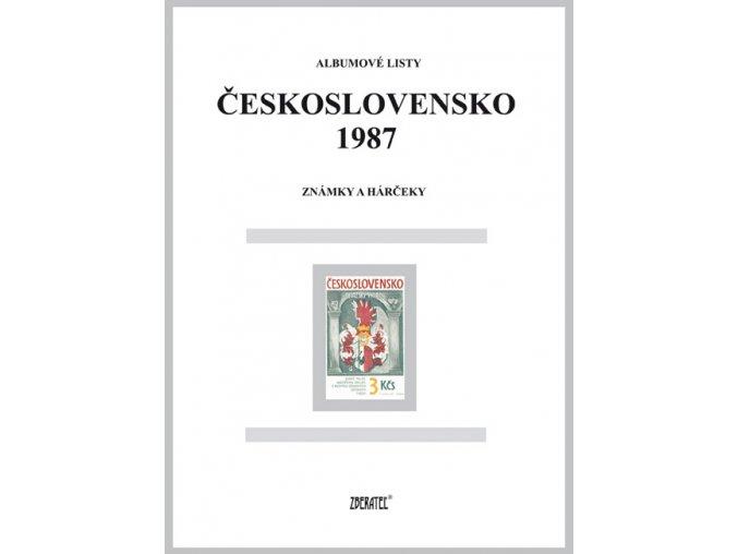 Albumové listy Československo 1987 I