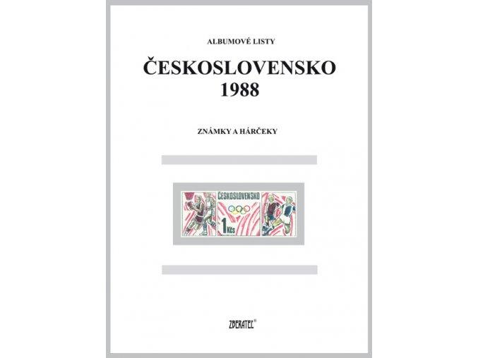 Albumové listy Československo 1988 I