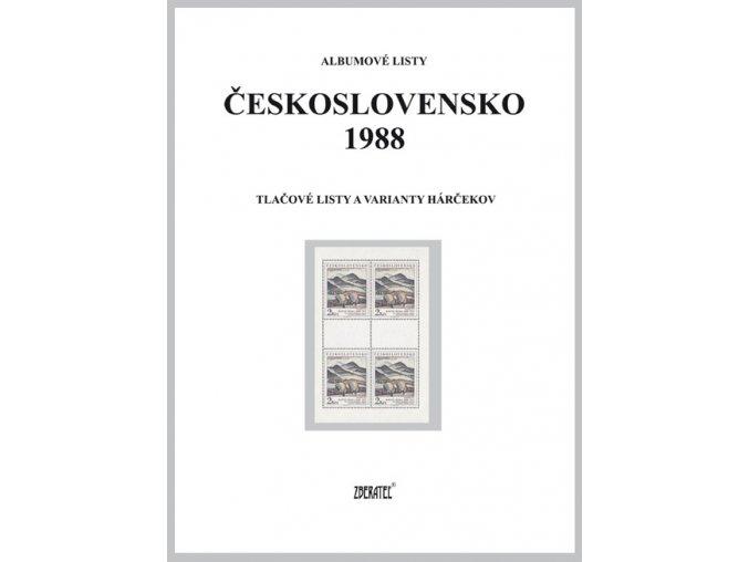 Albumové listy Československo 1988 II