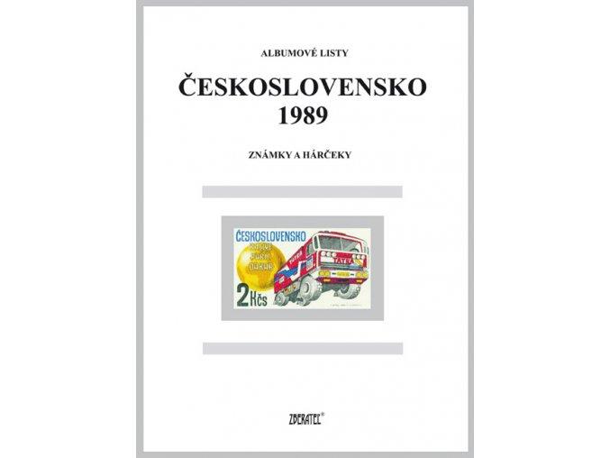 Albumové listy Československo 1989 I