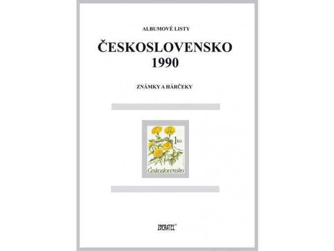 Albumové listy Československo 1990 I
