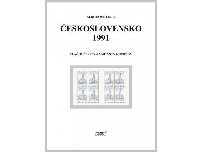 Albumové listy Československo 1991 II