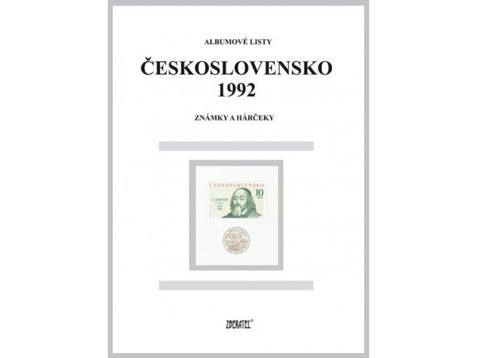Albumové listy Československo 1992 I