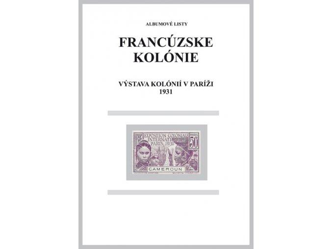 Albumové listy Franc kol 1931 Výstava Paris